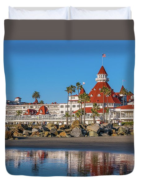 Duvet Cover featuring the photograph The Hotel Del Coronado San Diego by Robert Bellomy