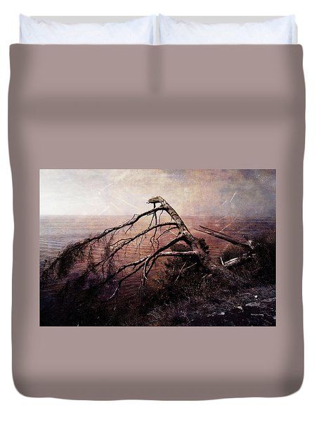 Duvet Cover featuring the photograph The Invisible Force by Randi Grace Nilsberg