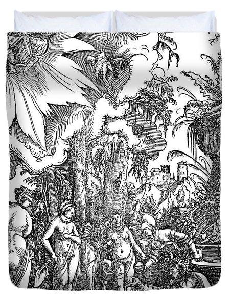 The Judgment Of Paris, 1511 Duvet Cover