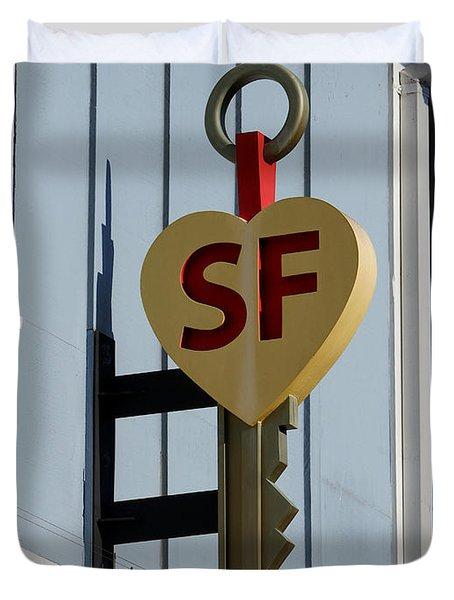 The Key To San Francisco Duvet Cover