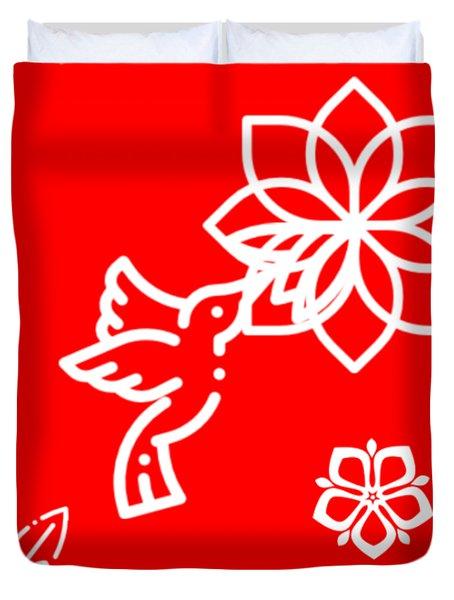 The Kissing Flower On Flower Duvet Cover