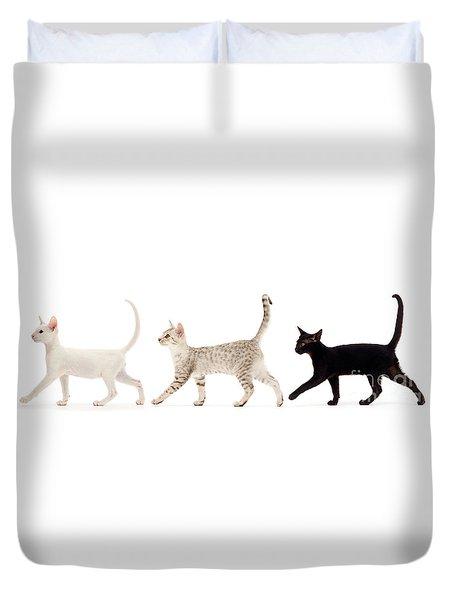 The Kits Parade - Three Duvet Cover