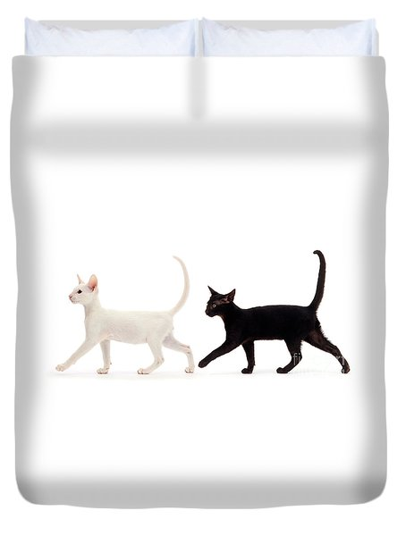 Duvet Cover featuring the photograph The Kits Parade - Two by Warren Photographic