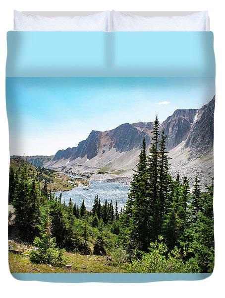The Lakes Of Medicine Bow Peak Duvet Cover