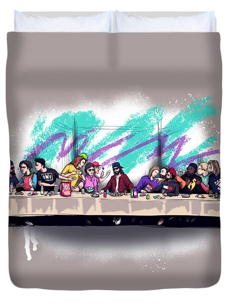 The Last 90s Supper Duvet Cover