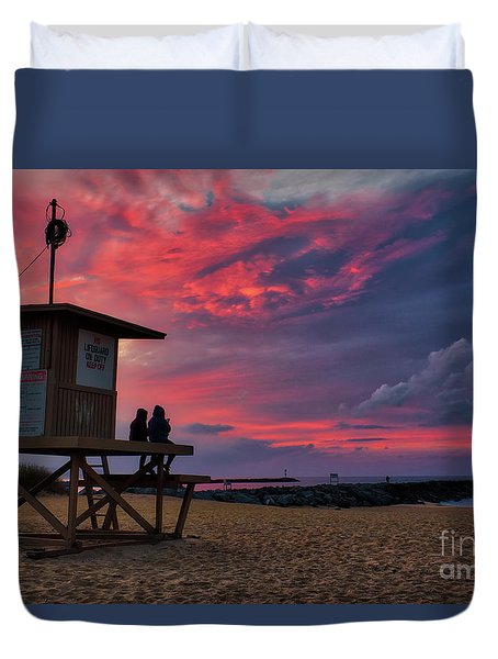 The Last Sunrise Of 2018 At The Wedge Duvet Cover