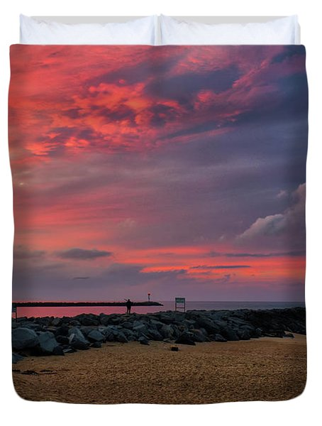 The Last Sunrise Of 2018 Duvet Cover