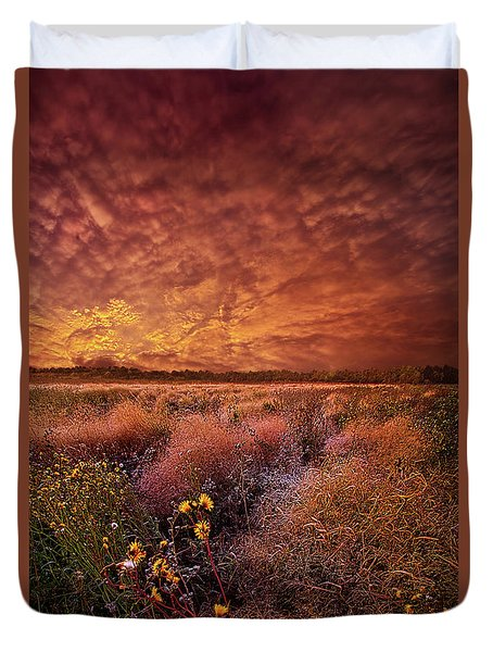 Duvet Cover featuring the photograph The Light So Softly Spoken by Phil Koch