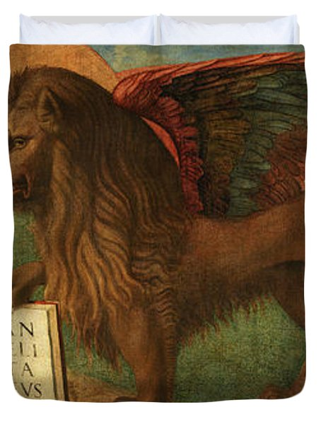 The Lion Of Saint Mark, 1516 Duvet Cover