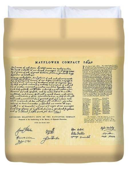 The Mayflower Compact  Duvet Cover