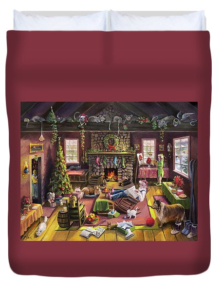 The Micey Christmas Heisty Duvet Cover