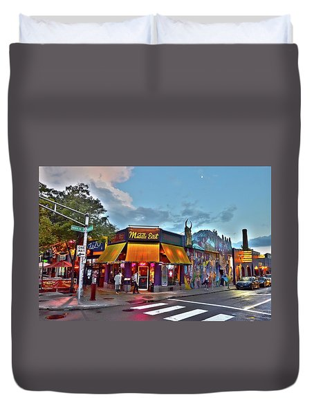 The Middle East In Cambridge Central Square Dusk Duvet Cover