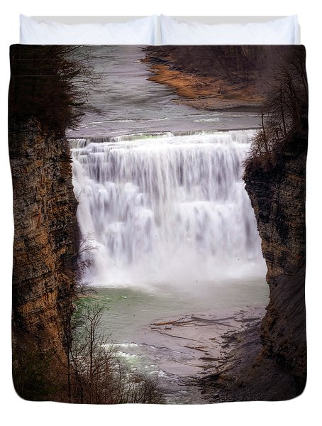 The Middle Falls Duvet Cover