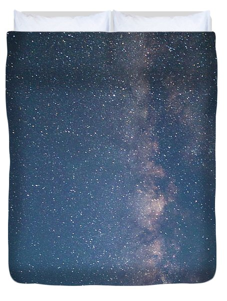 The Milky Way In Arizona Duvet Cover
