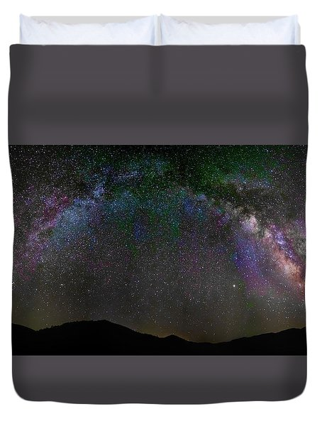 The Milky Way Over The Anza Borrego Desert Duvet Cover