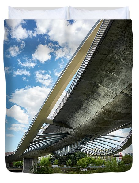 The Millennium Bridge From Below Duvet Cover