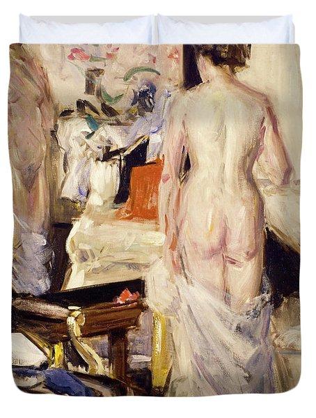 The Model, 1912 Duvet Cover