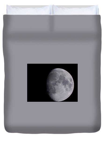 Duvet Cover featuring the photograph The Moon by Lukas Miller