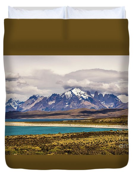 The Mountains Of Torres Del Paine National Park, Chile Duvet Cover