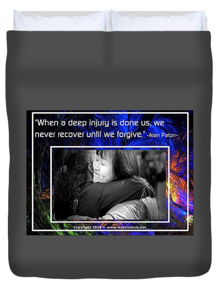 The Mystic Circle Inspirational Series One Four Duvet Cover