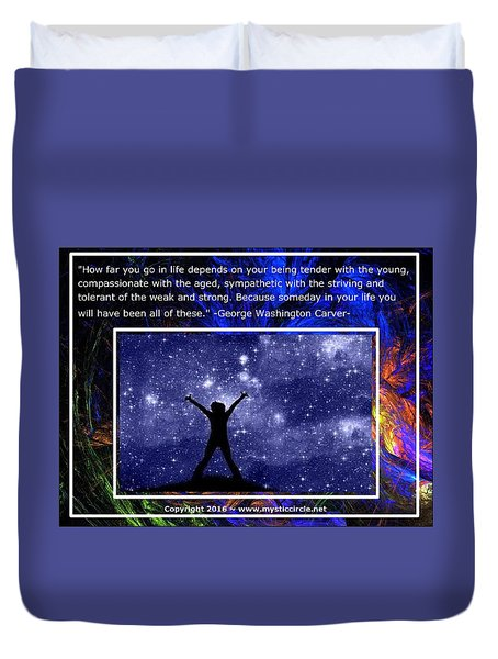 The Mystic Circle Inspirational Series One Three Duvet Cover