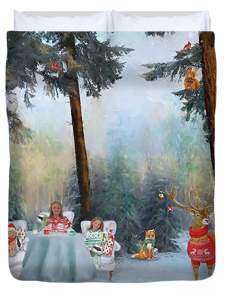 The Mystical Magical Wonders Of The Forest Duvet Cover