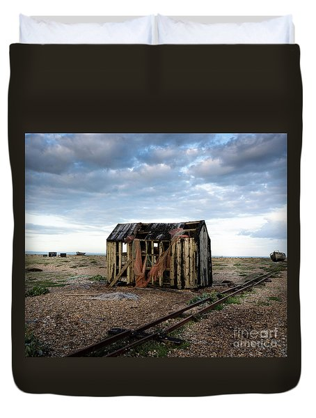 The Net Shack, Dungeness Beach Duvet Cover