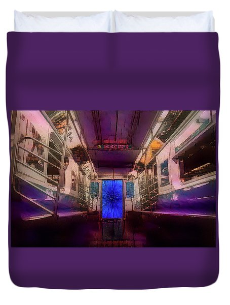 The Next Stop Is... Duvet Cover