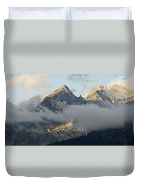 Duvet Cover featuring the photograph The Ossau Valley  by Stephen Taylor