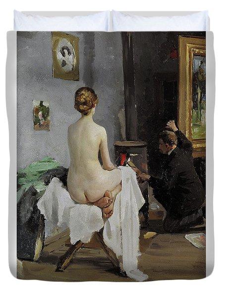 The Painter's Studio, 1896 Duvet Cover