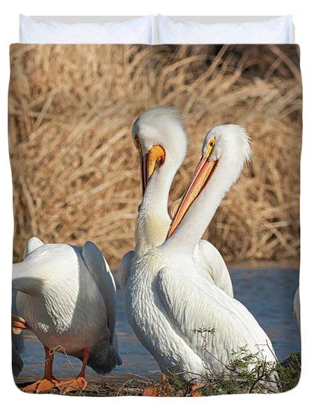 The Pelican Gang Duvet Cover