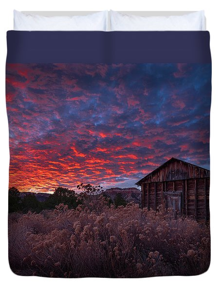 Duvet Cover featuring the photograph The Perfect Sunset by Edgars Erglis