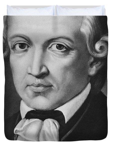 The Philosopher Immanuel Kant Duvet Cover
