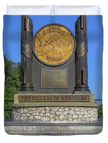 The Pillars Of Hercules Duvet Cover