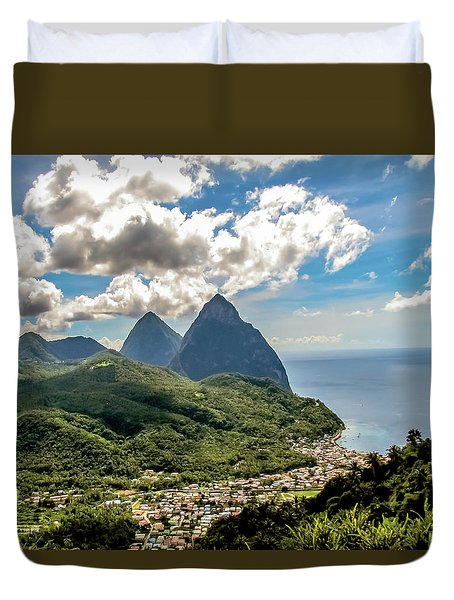 The Piton Twins Duvet Cover