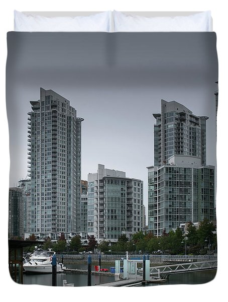 The Quayside Marina - Yaletown Apartments Vancouver Duvet Cover