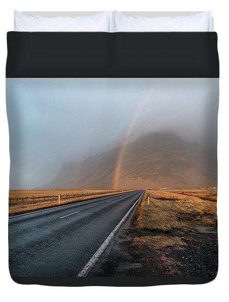 The Rainbow Road Duvet Cover