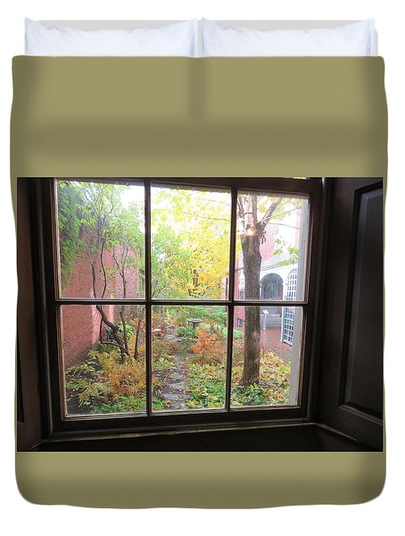 The Rainy Day By Longfellow Duvet Cover