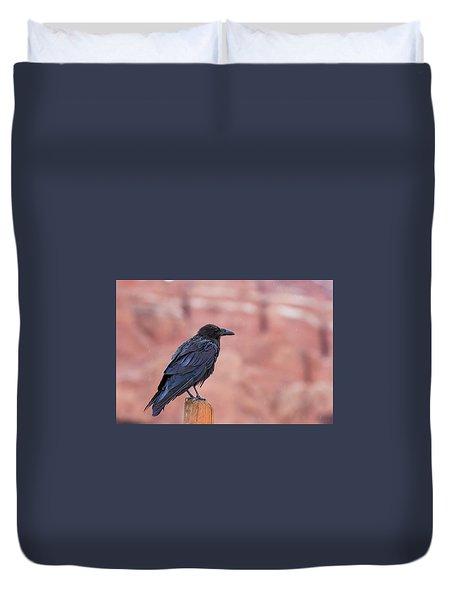 The Rainy Raven Duvet Cover