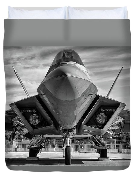 The Raptor Waits Duvet Cover