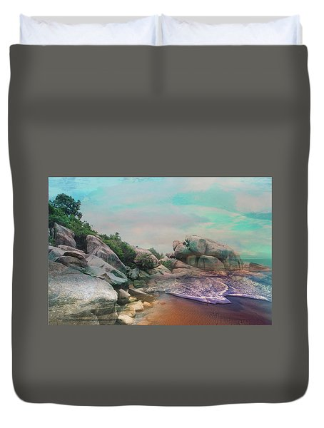 The Rising Tide Montage Duvet Cover