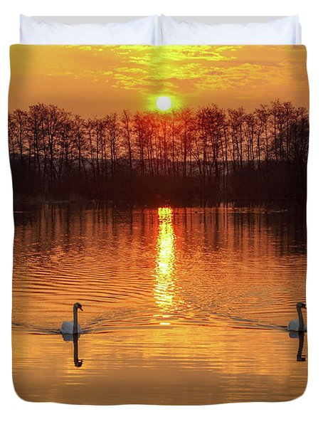 The River Waal Duvet Cover