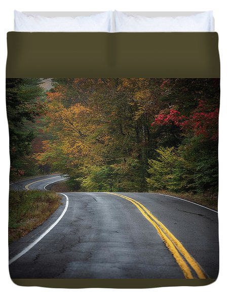The Road To Friends Lake Duvet Cover