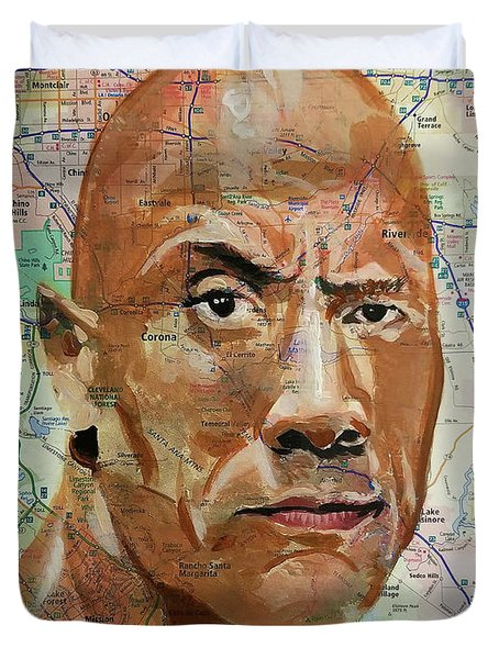 The Rock From California Duvet Cover