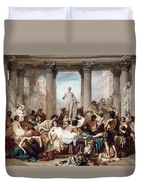 The Romans In Their Decadence Duvet Cover