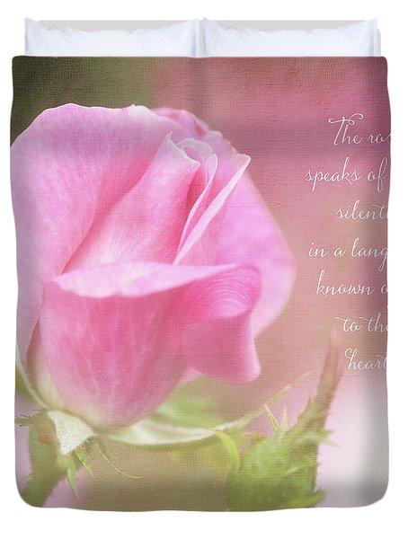 The Rose Speaks Of Love Photograph Duvet Cover