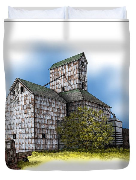 The Ross Elevator Autumn Duvet Cover
