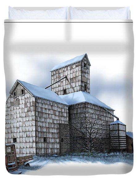 The Ross Elevator Winter Duvet Cover