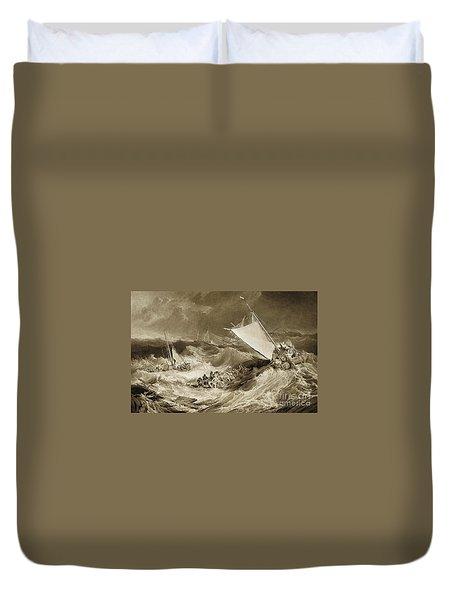 The Ship Wreck, 1807 Duvet Cover