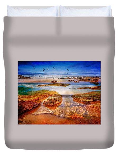 The Silent Morning Tide Duvet Cover